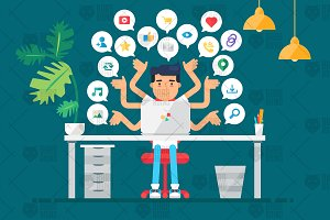 Web Social Network Concept