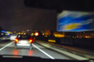 Night blurred traffic