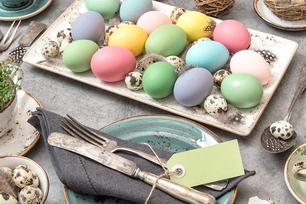 Easter still life Easter eggs