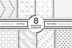 Small dotted seamless patterns