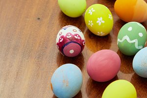 holiday colorful easter eggs