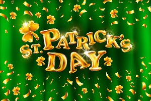 vector Happy St. Patrick's Day gold