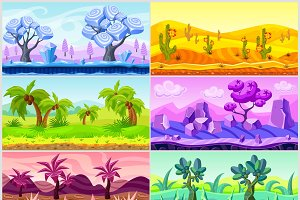 Cartoon Landscape Collection