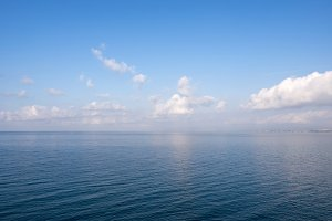 Sea view panorama, high angle view