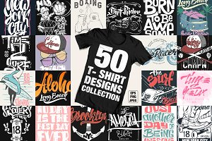 50 T-Shirt designs collection