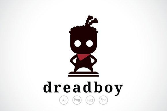 Dreadlocks Boy Logo Template