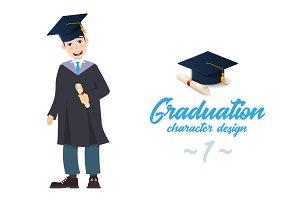 A young graduate man