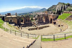 Ancient Theater in Taormina, Sicily