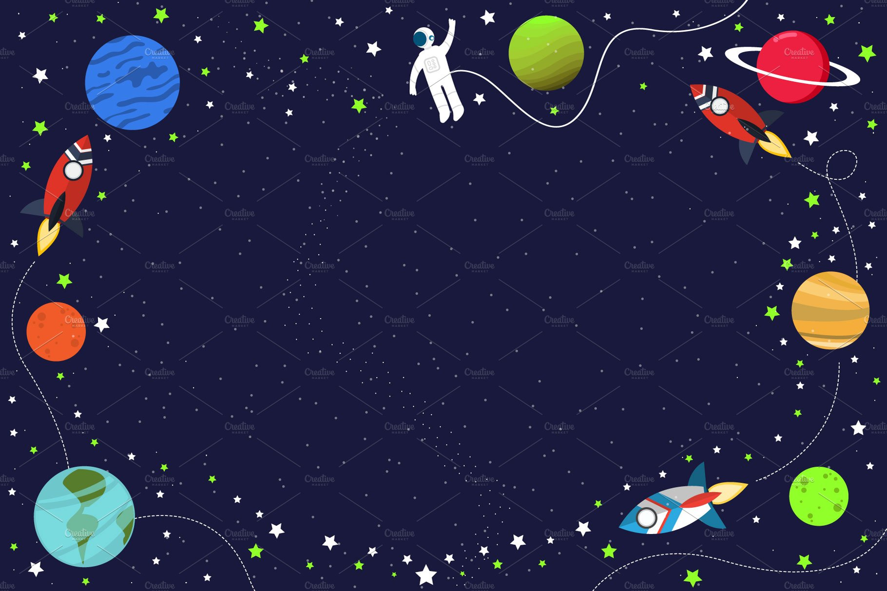 cool birthday space background illustrations creative market