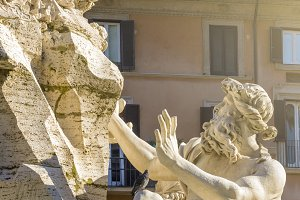 River Danube Statue in Rome