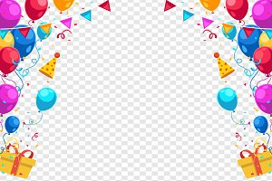 Happy Birthday Holiday Vector Frame