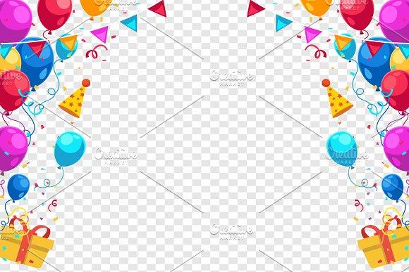Happy Birthday Holiday Vector Frame ~ Illustrations ~ Creative Market