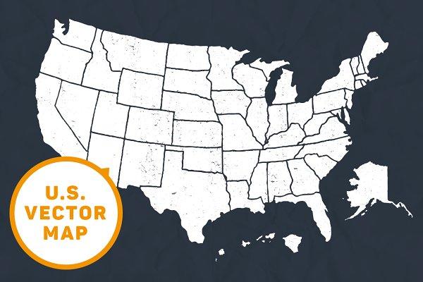 US - Hand illustrated map + bonus
