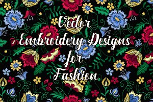 Vector embroidery design for Fashion
