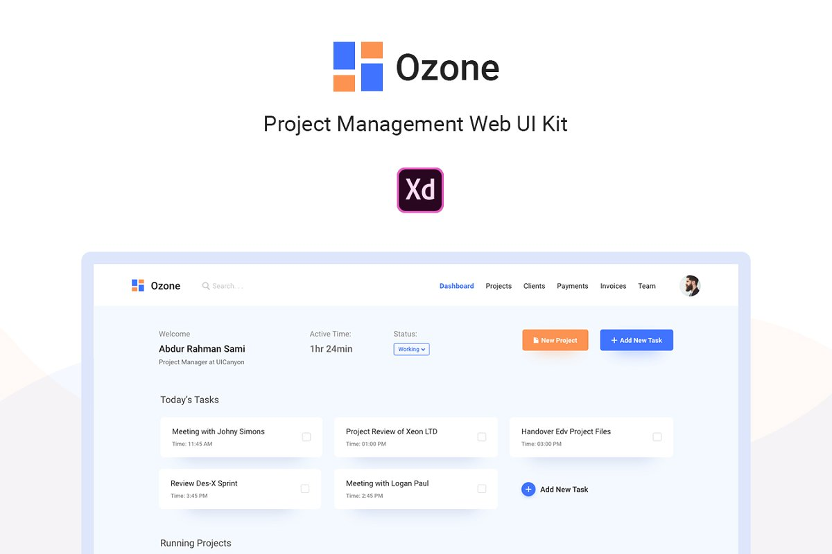 Ozone Project Management Web UI Kit ~ UI Kits and Libraries