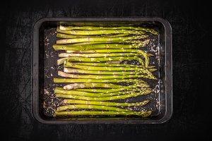 Fresh raw asparagus