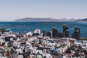 View over Reykjavik in Summer