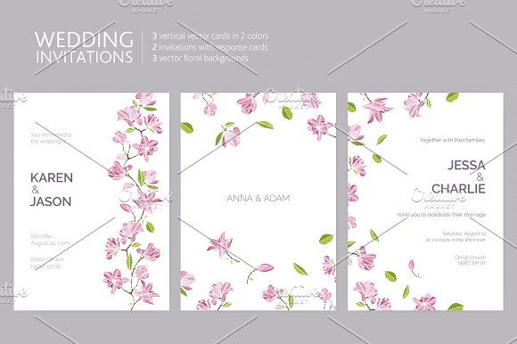 Invitation Templates With Flowers