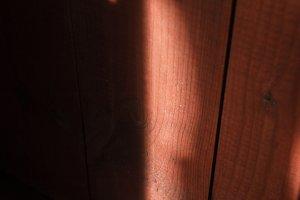 Sunny glare on wooden board