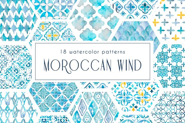 MOROCCAN WIND seamless pattern