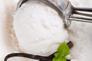 White ice cream.