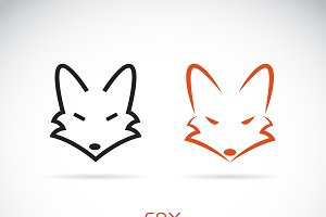 Vector of a fox head design. Animal.