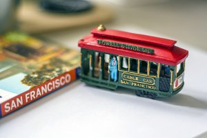 san francisco cable car miniature