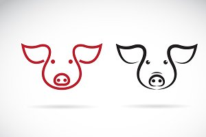 Vector of a pig head design. Animal.