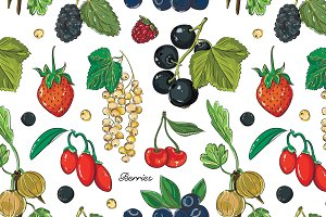 Berries color set pattern
