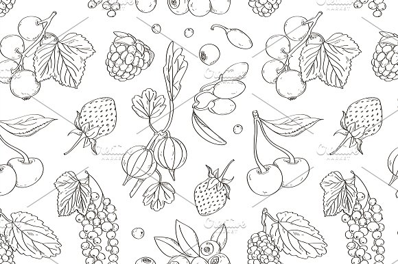Berries Set Pattern