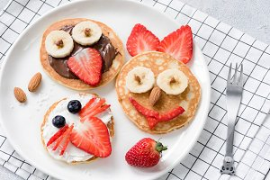 Colorful breakfast meal for kids
