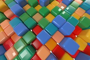 Multicolored cubes