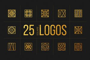 25 Linear Geometric Logos. Part IV
