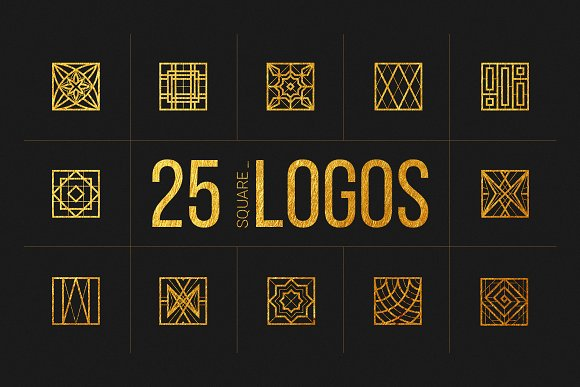 25 Linear Geometric Logos. Part IV
