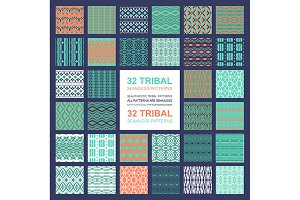Set of 32 simple seamless patterns