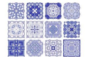 Azulejos. 24 Lisbon floral mosaic