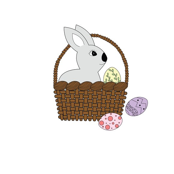 Easter Rabbit In The Basket