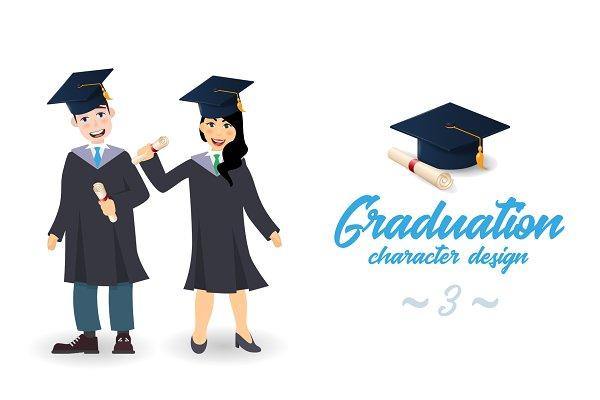 Graduate man and woman