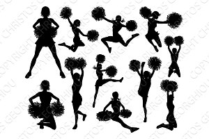 Cheerleader Silhouettes