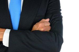 Businessman Closeup Arms Crossed