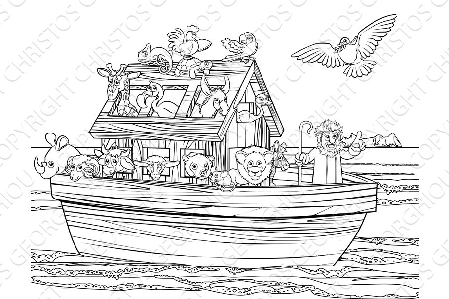 Noahs Ark in Illustrations