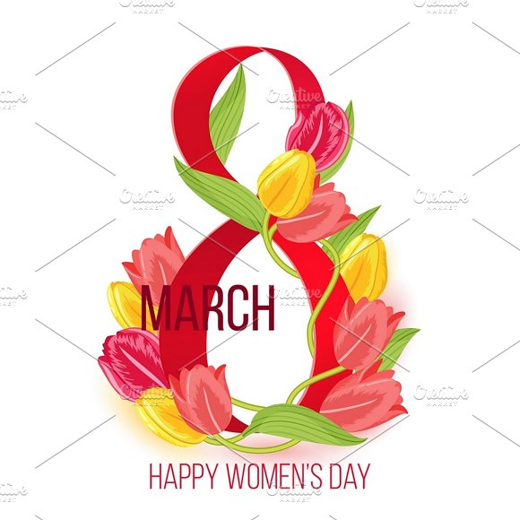 WomenЎЇs Day 8 March Card