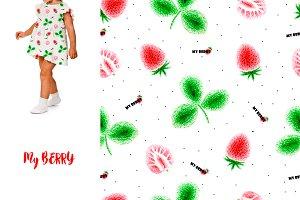 strawberry print for children