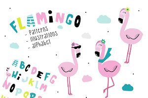 Bingo Flamingo - Illustration set
