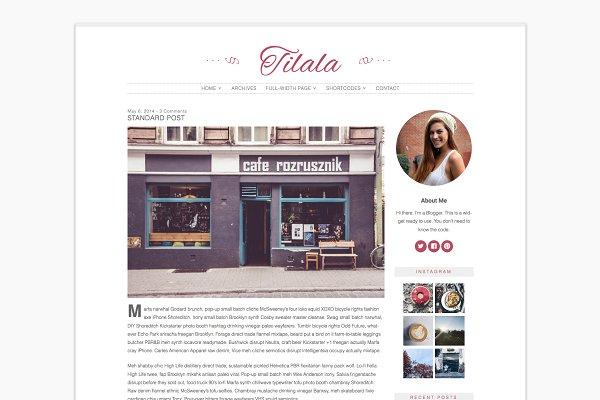 Tilala - Feminine Wordpress Theme