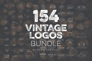 154 Vintage Logos Bundle Vol.3