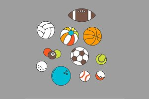 Balls for sport or recreation set