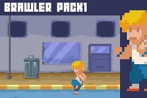 2D Brawler game assets