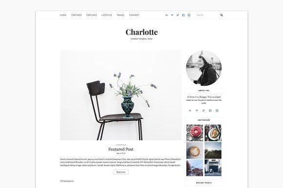 Charlotte Lifestyle Blog Theme Wordpress Blog Themes Creative