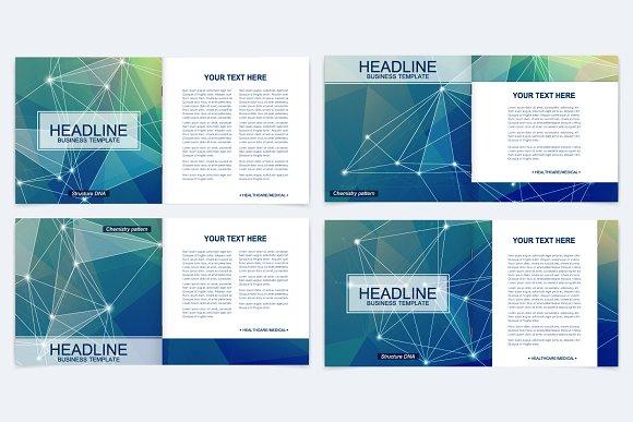 Scientific templates square brochure